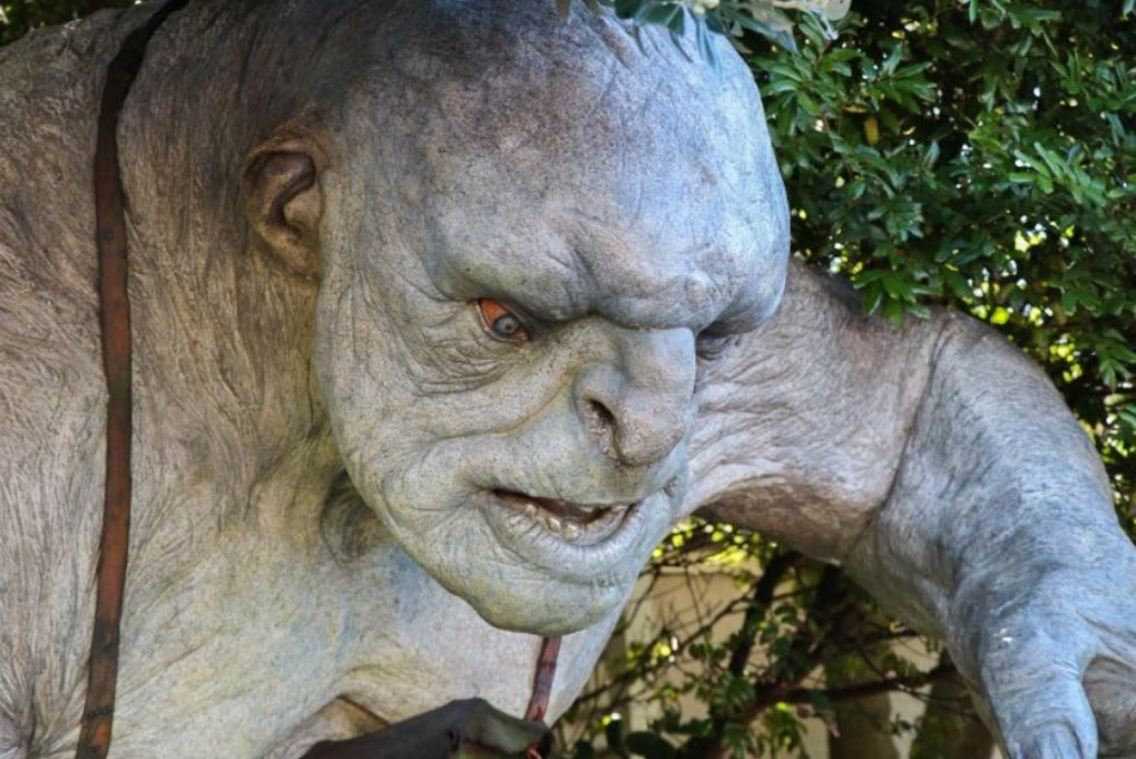 A Lord of the Rings troll at Weta Cave, Wellington, New Zealand
