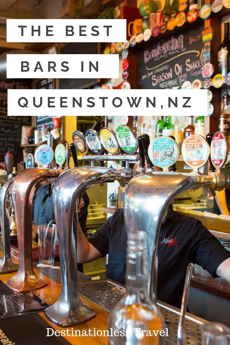 The Best bars in Queenstown New Zealand pin