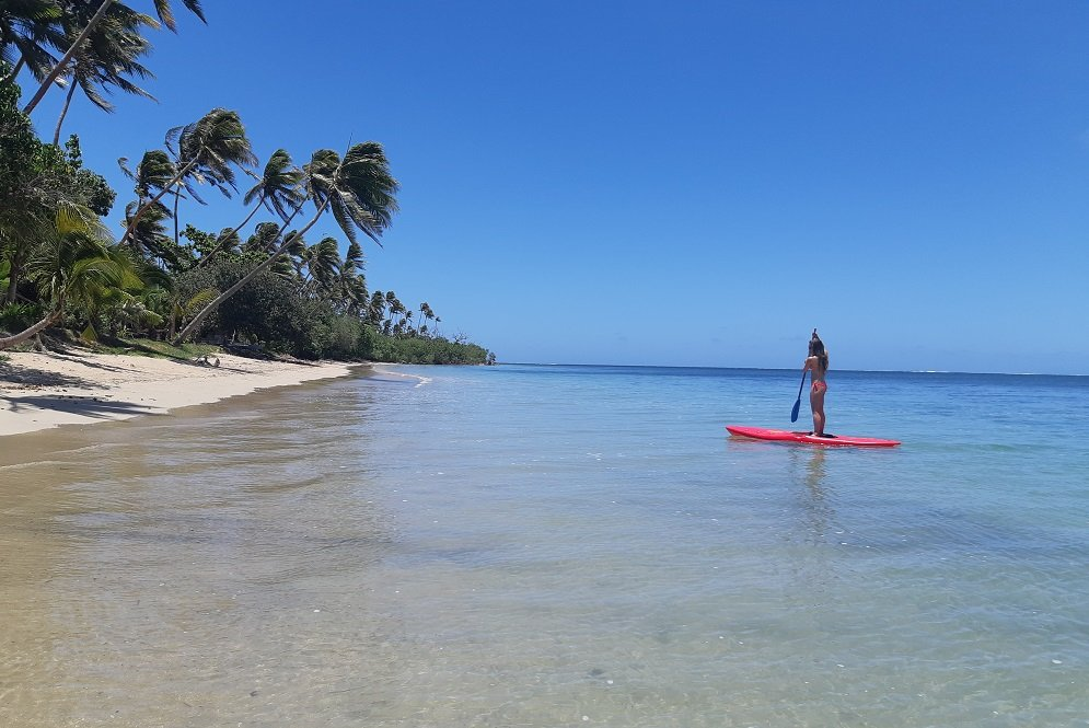 standup paddle-boarding in Fiji