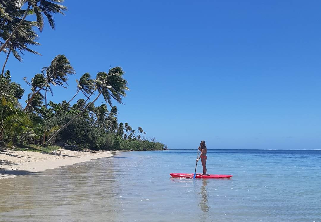 paddleboarding in fiji