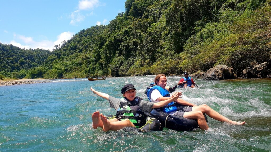 river tubing in Fiji on the Navua River