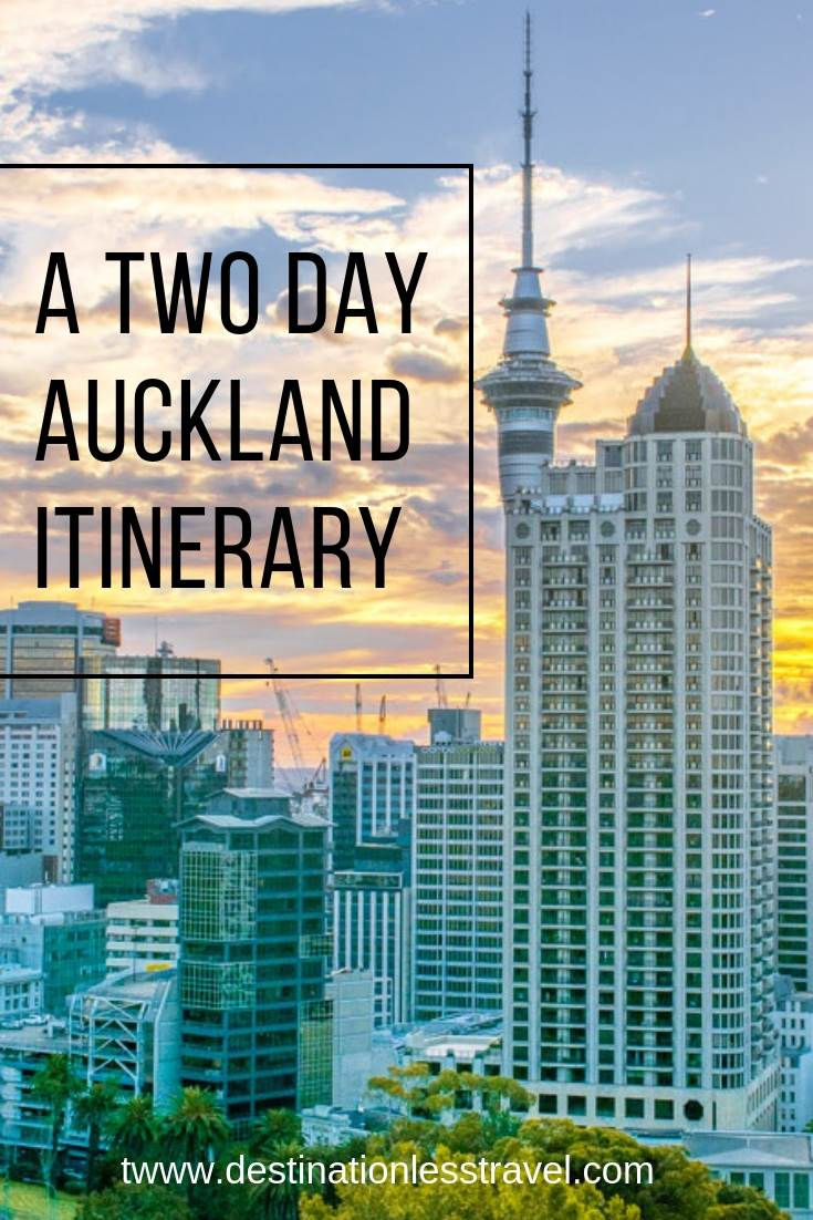 Two day Auckland itinerary pin