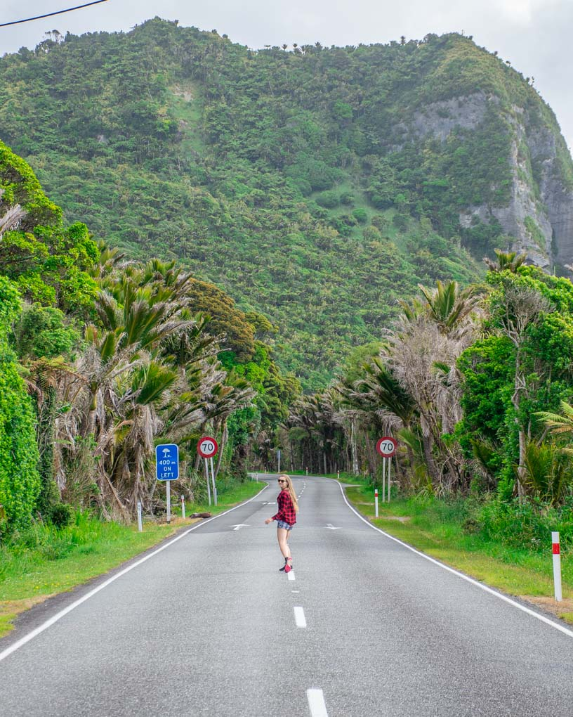 A scenic view of the roads around Punakaiki