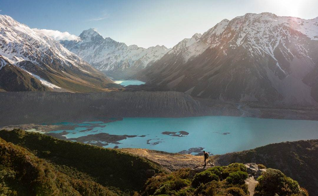 Mueller Hut Trail in Mount Cook, New Zealand one of the best places to visit on the south island