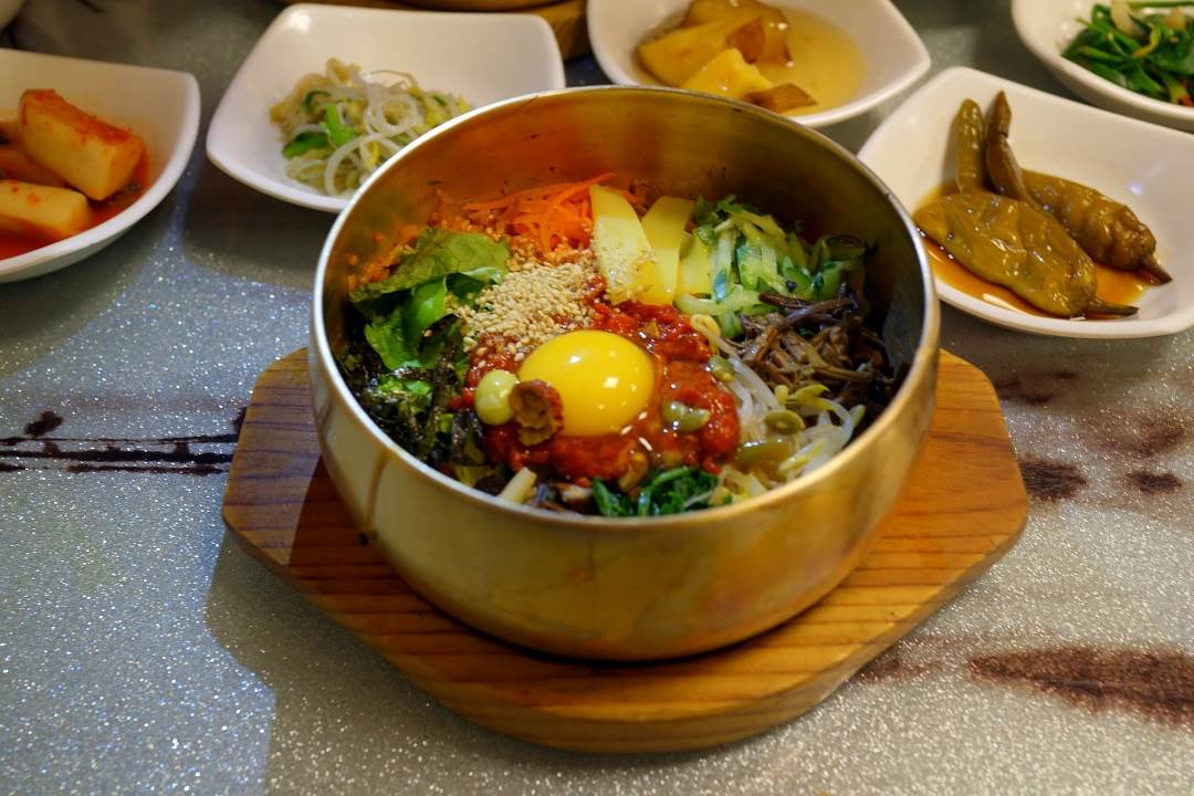 The famous Jeonju bibimbap