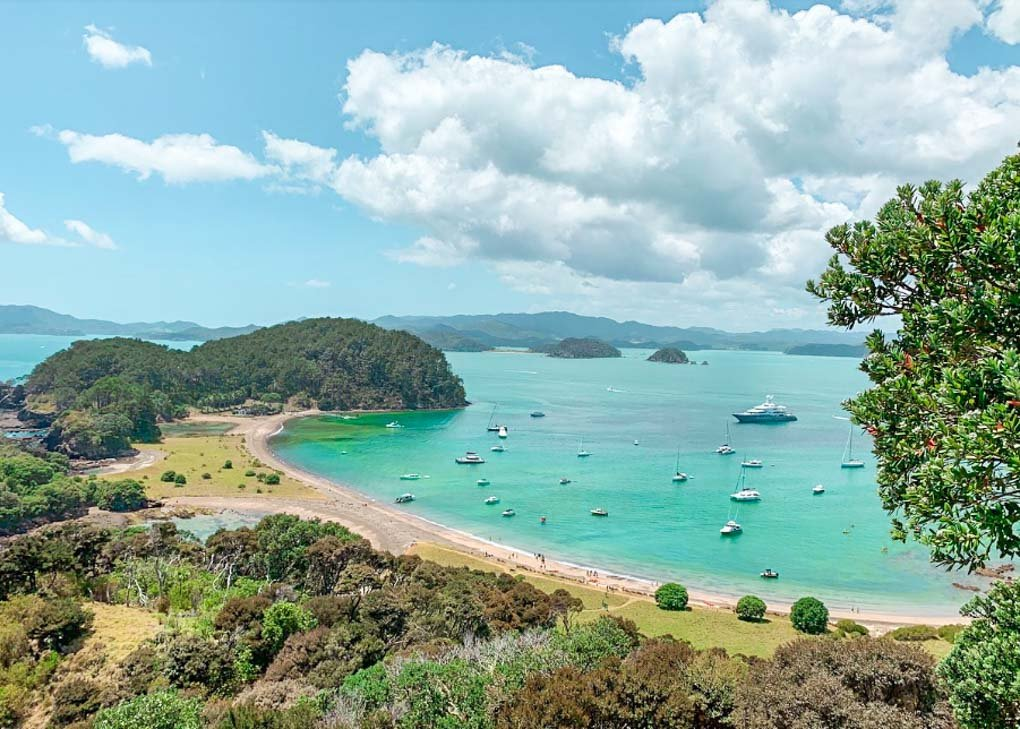 An island in the Bay of Islands, New Zealand
