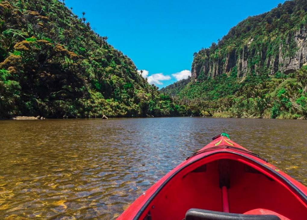 Kayaking on the Pororari River
