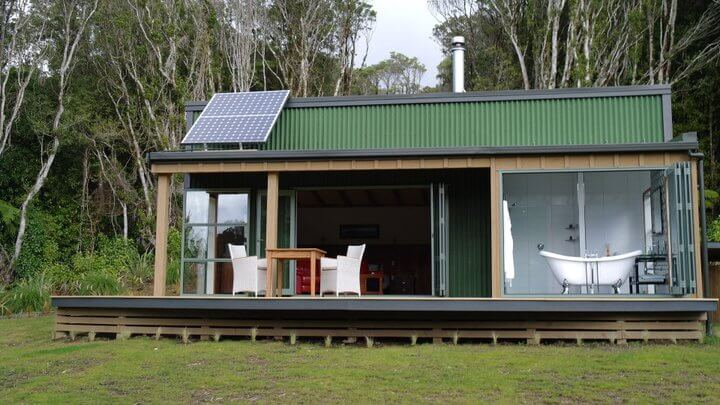 the Pouakai Cabins in New Plymouth, New Zealand