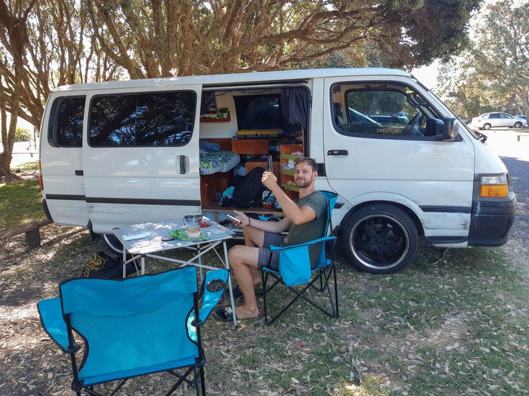 Living in a van near Auckland