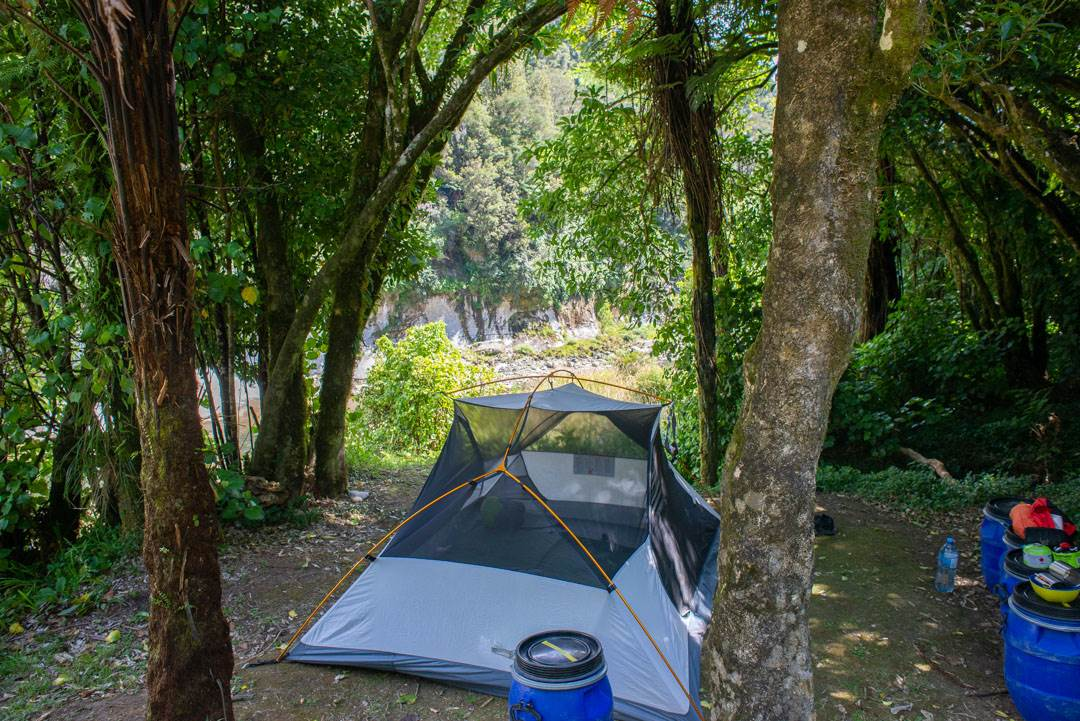 campsites along thw whanganui journey