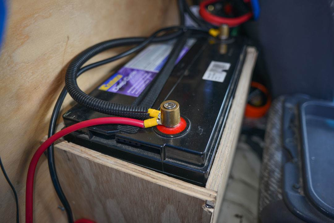 battery in a campervan to watch out for when buying a campervan in New Zealand