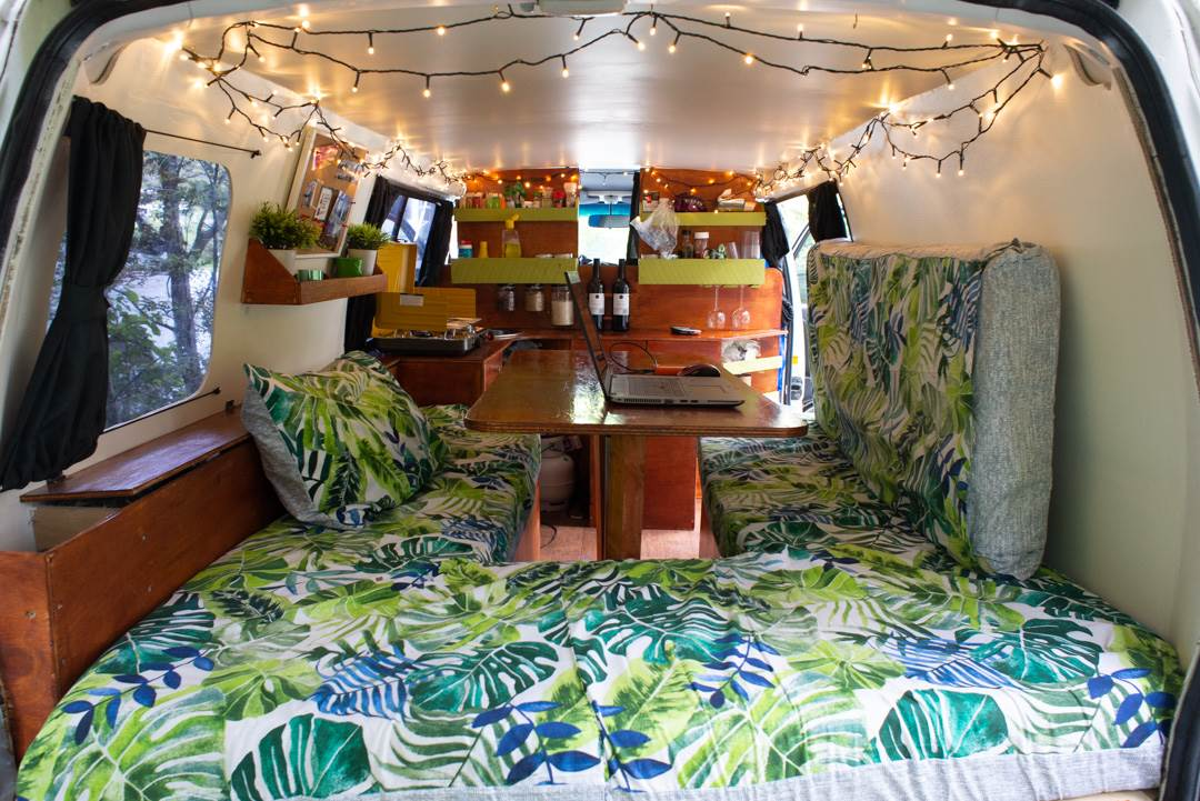 A home built campervan in New Zealand