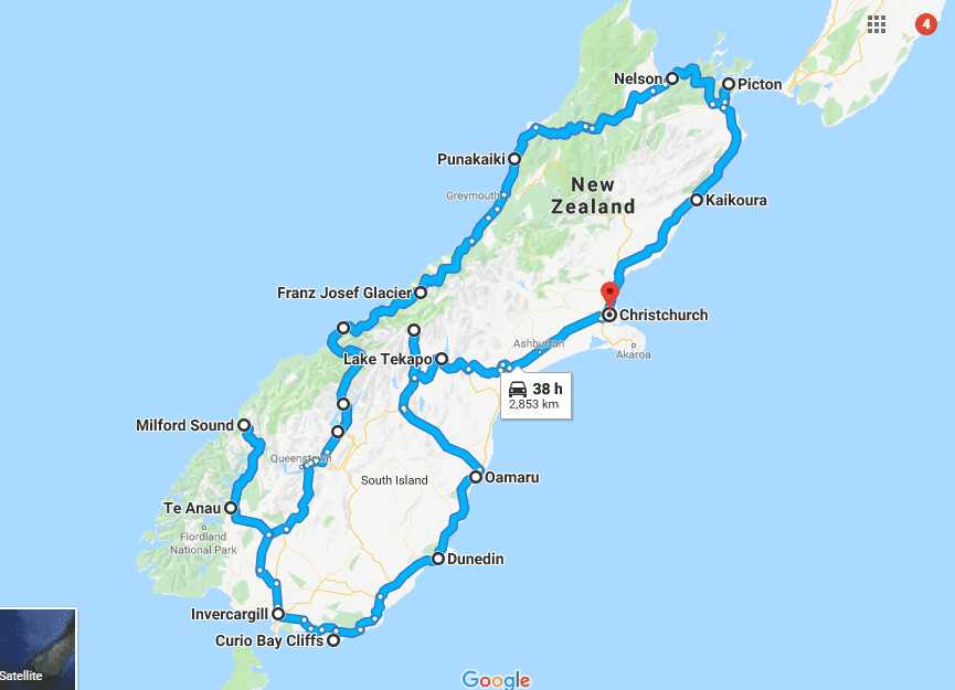 New Zealand Route Map.10 New Zealand Road Trip Itinerary Ideas Plan Your New Zealand