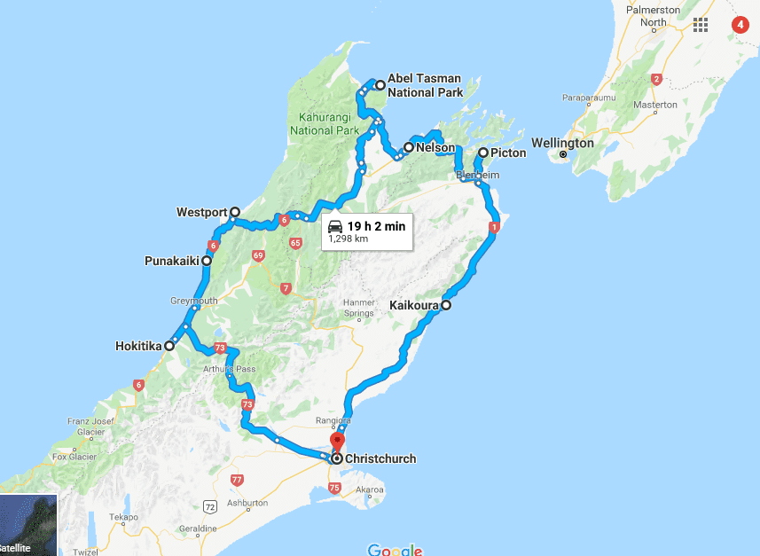 New Zealand Road trip itinerary 4 N