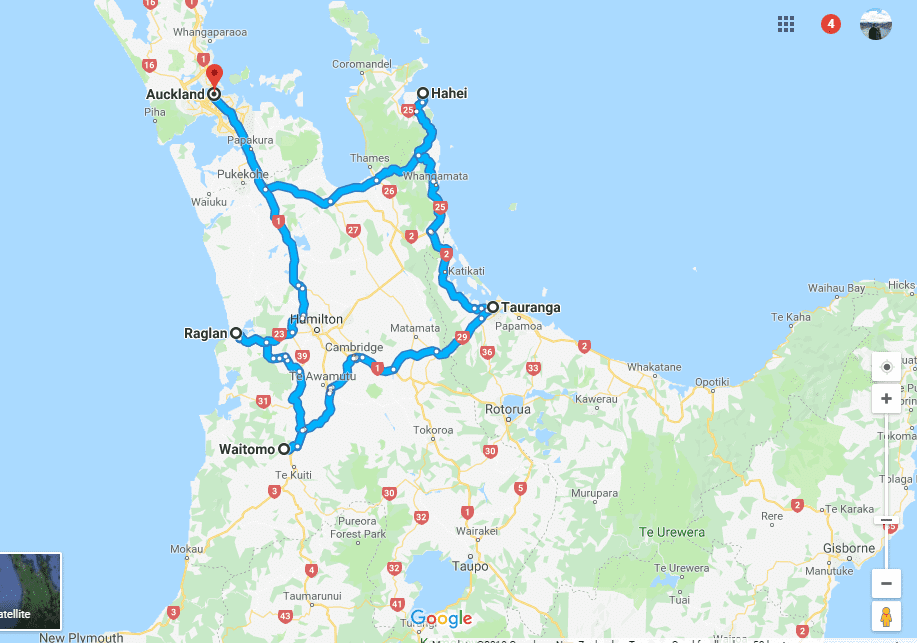 new zealand north island road trip itinerary