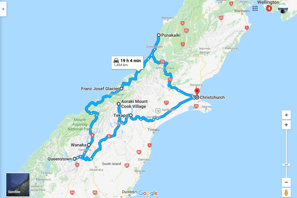 New Zealadn road trip idea - 10 day southern alp explorer