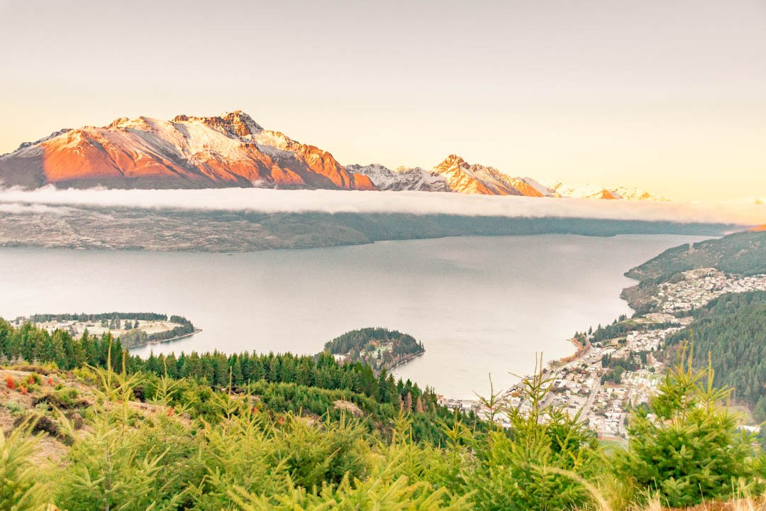 The View of Queenstown from Queentown Hill, New Zealand