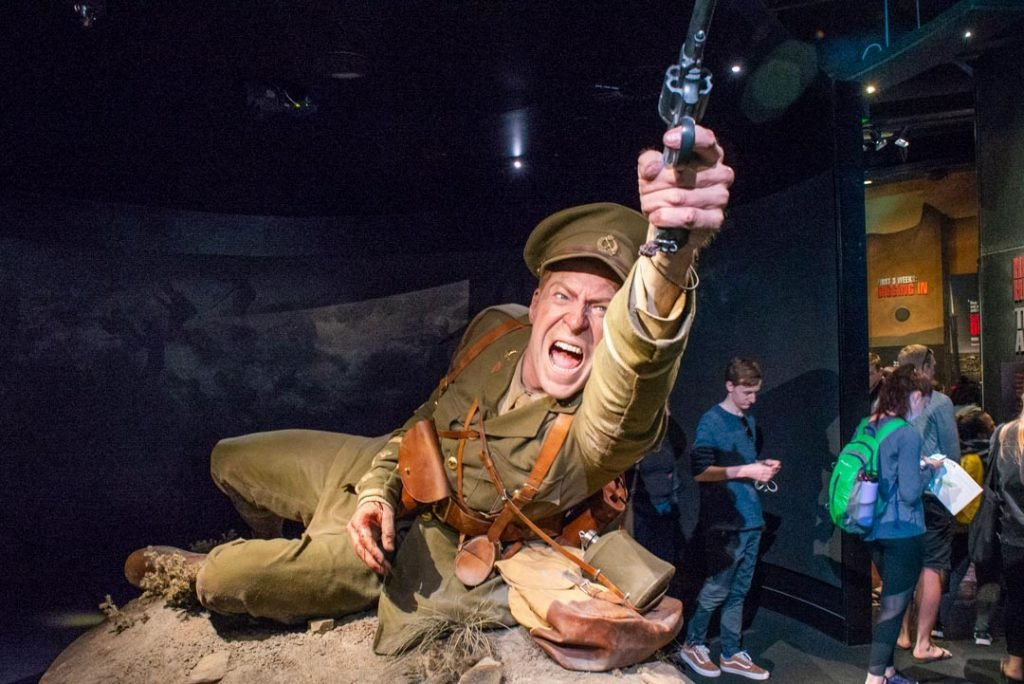 The world war 2 exhibit at the Te papa Museum in Wellington