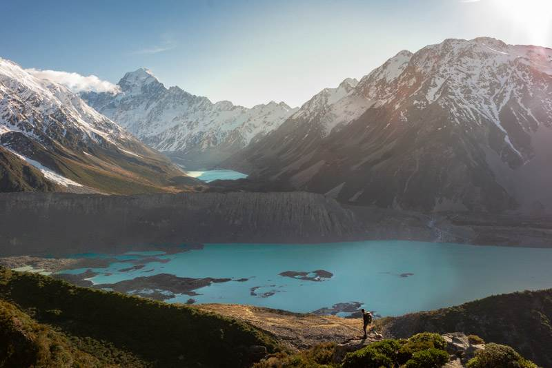 Mount Cook national park is one of the most popular places to visit in New Zealand