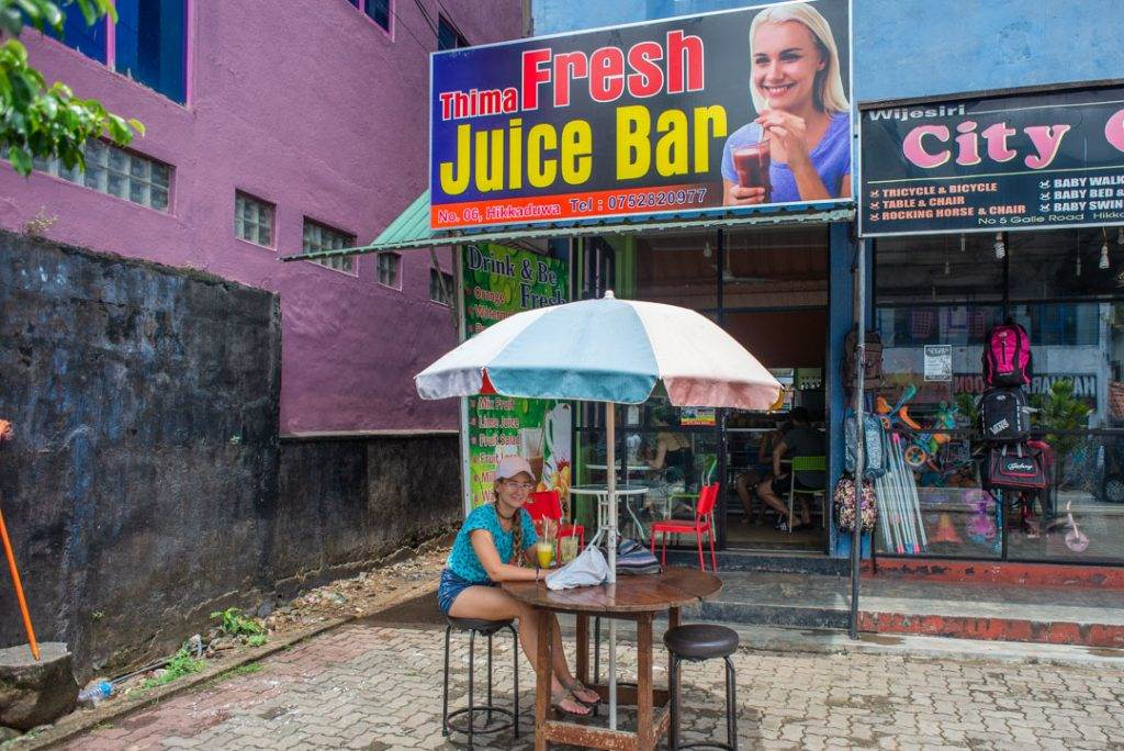 drinking fresh fruit juice in sri lanka