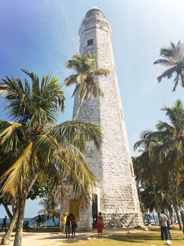 Dondra Lighthouse near Mirissa Beach