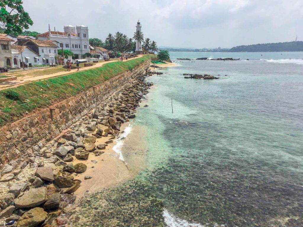 Galle Fort on the coast of Sri Lanka.