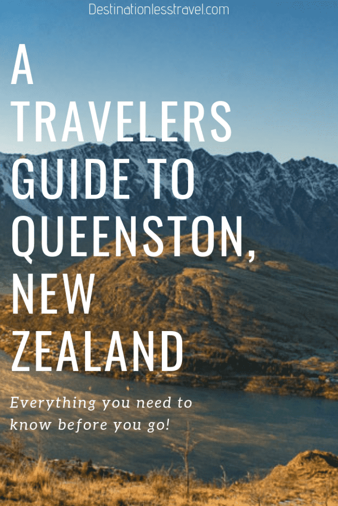 Queenstown, New Zealand travel guide pin