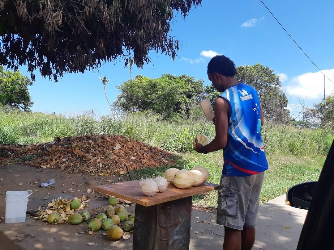 buying fresh coconut water in nadi fiji
