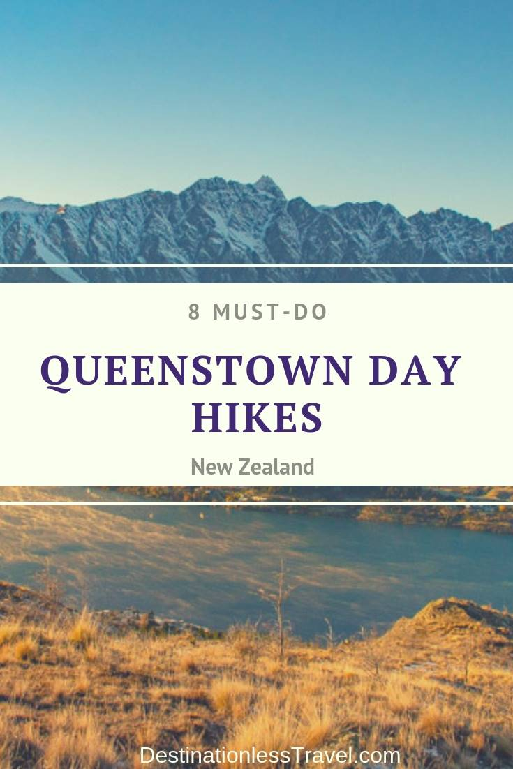 queenstown day hikes pin