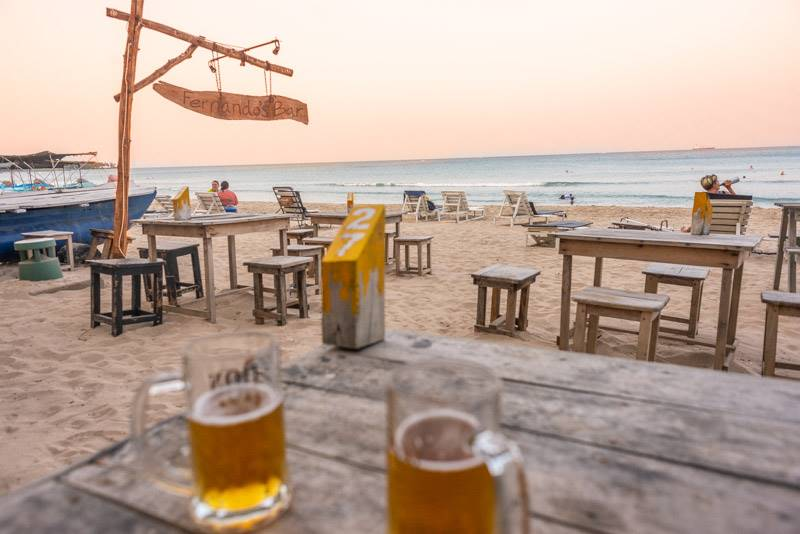Sunset drinks at Fernando's bar is a great way to spend an afternoon in Nilaveli
