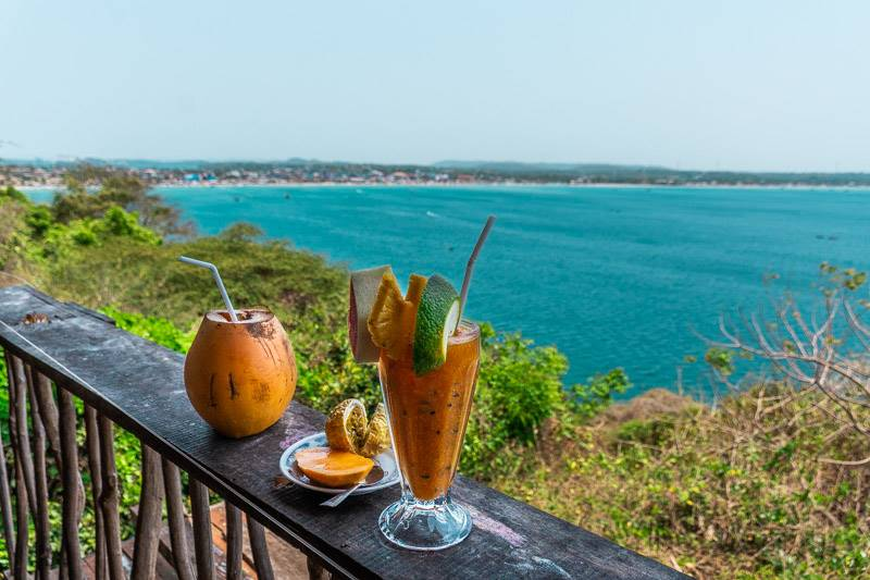 View from Frederick Fort in Trincomalee Sri Lanka