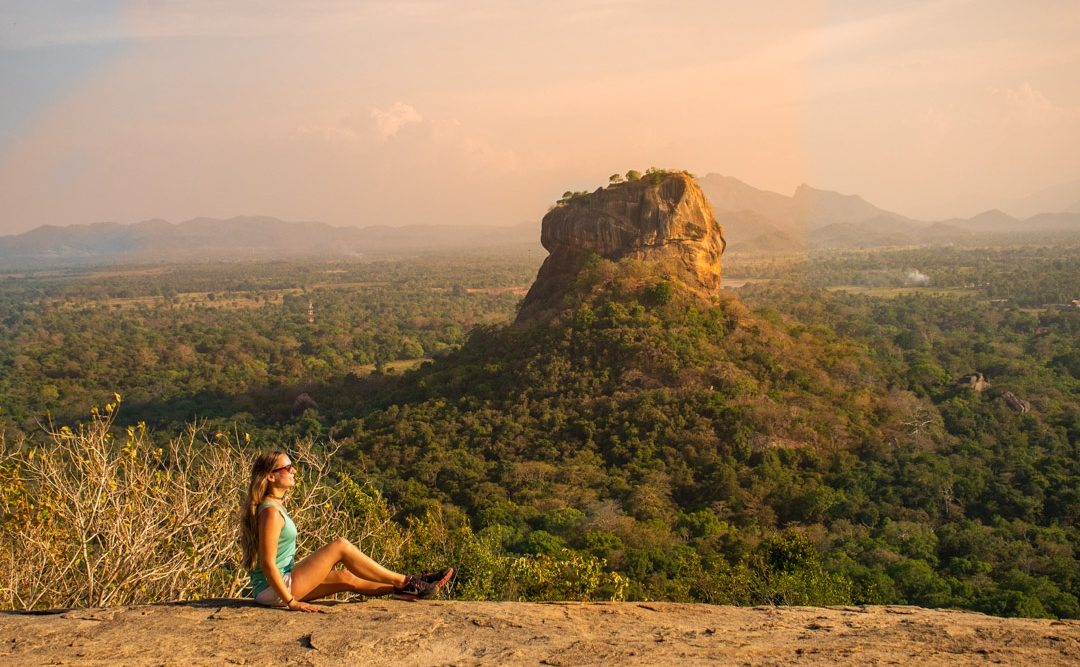 Sunset up at Pidurangala Rock, Sri Lanka