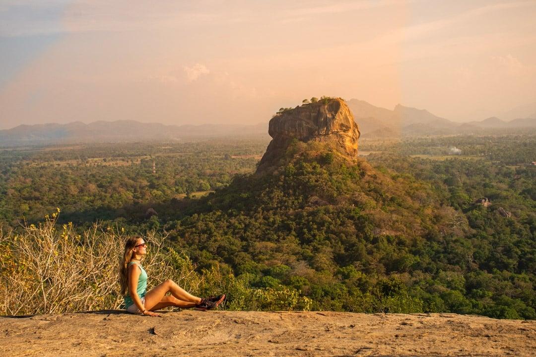 Sunset up at Pidurangala Rock, Sri Lanka