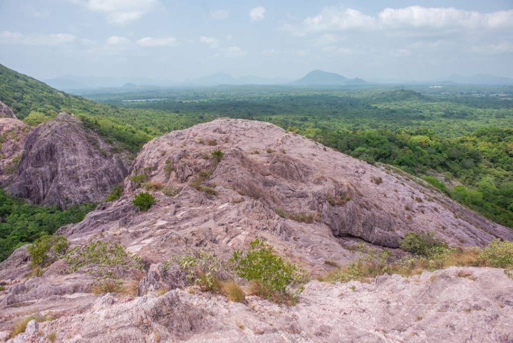 Rose Quartz Mountain near Dambulla Sri Lanka