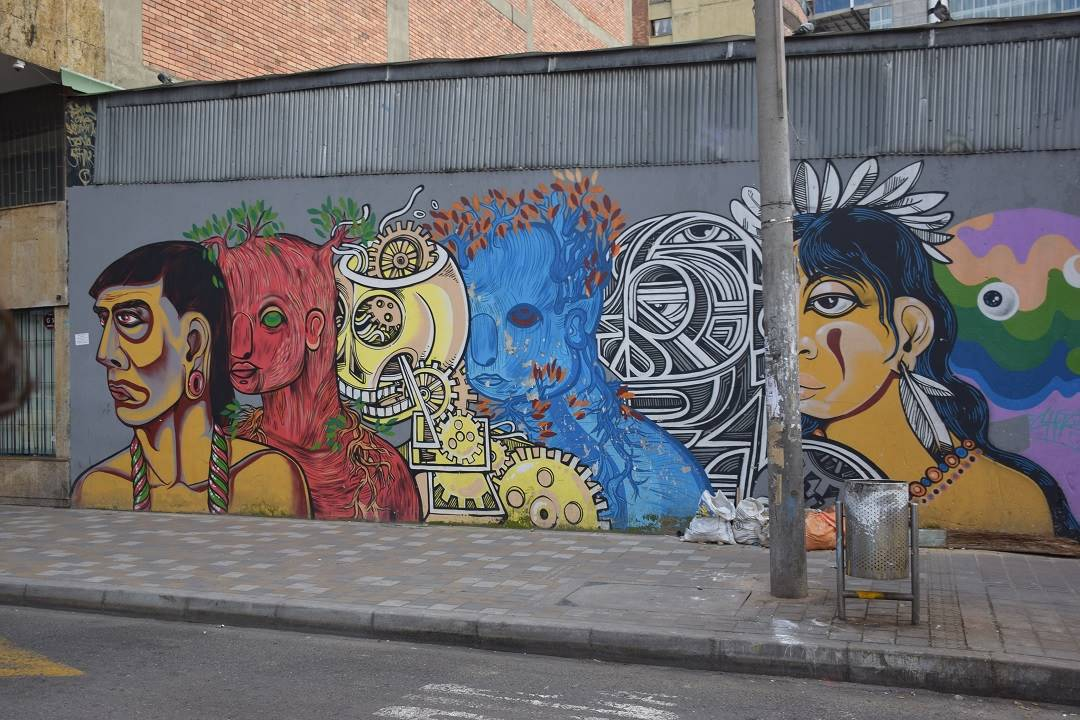 Bogota graffiti tour artworks!