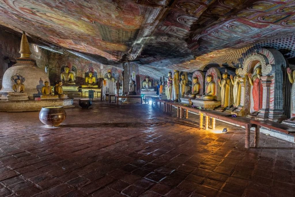Inside the Dambulla Cave Temples near Sigiriya