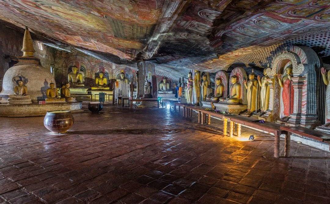 Dambulla Cave Temples is Dambulla near Sigiriya