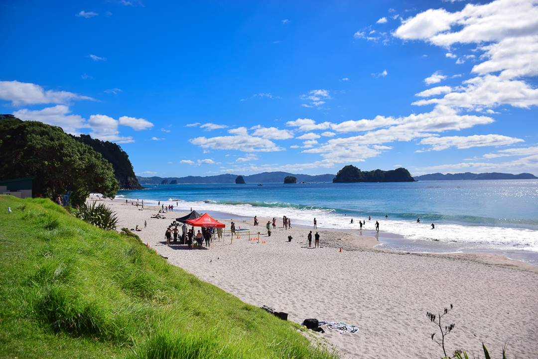hahei beach near cathedral cove is pretty nice