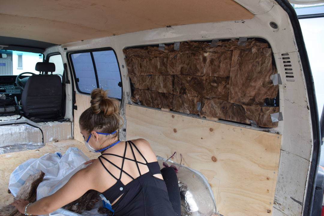 Insulating the windows in our campervan
