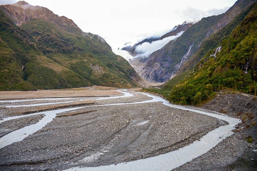 views of the Franz Josef Glacier walk