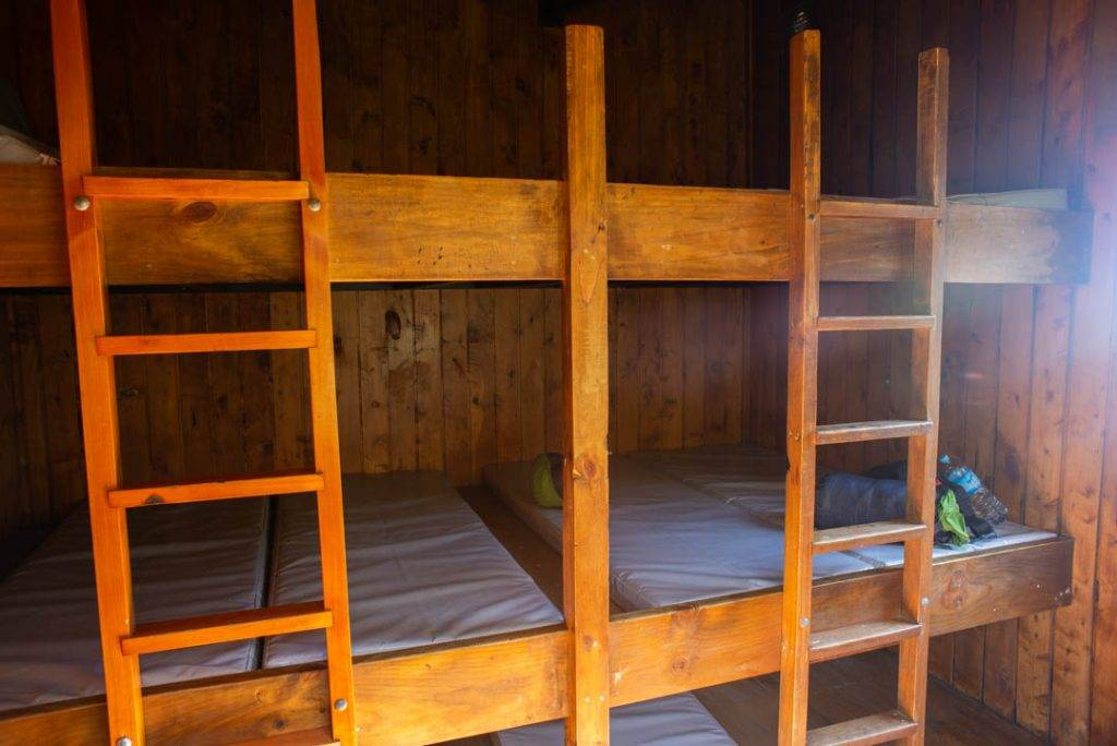bunk beds in a new zealand hut
