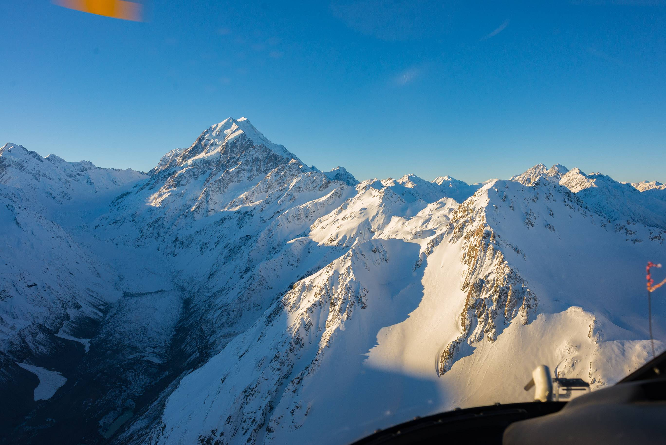 Views of Mount cook from a helicopter