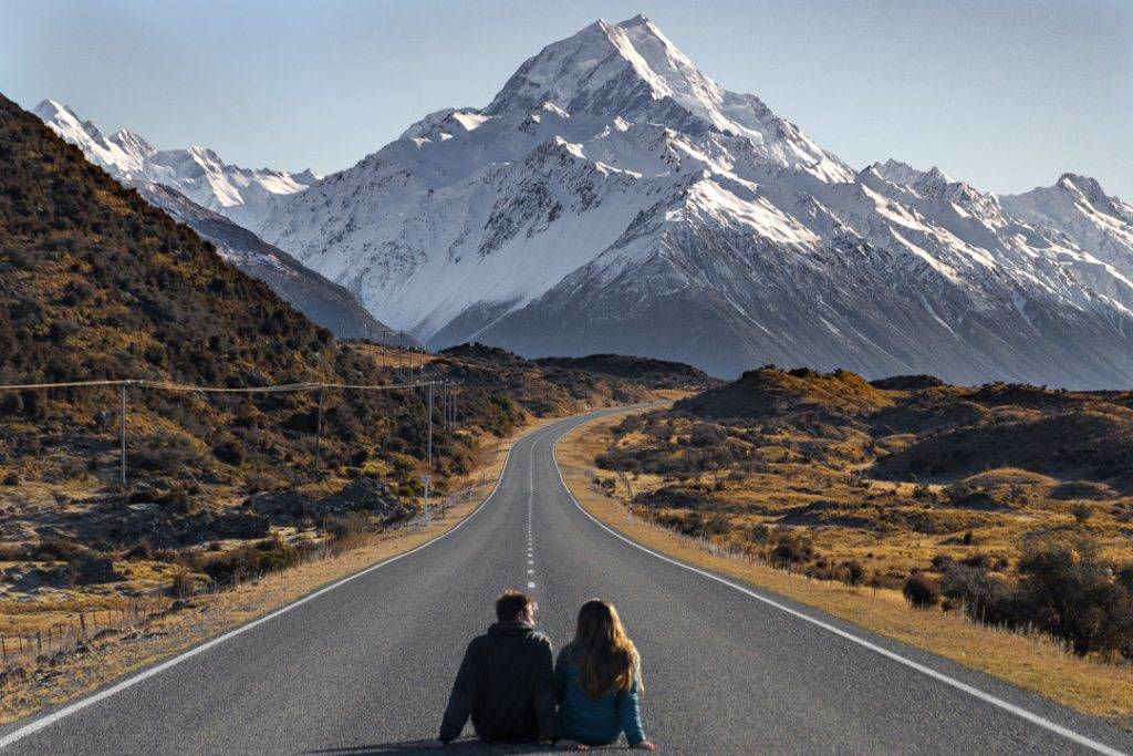 The road to the mount Cook village where the Mt Cook accommodation is