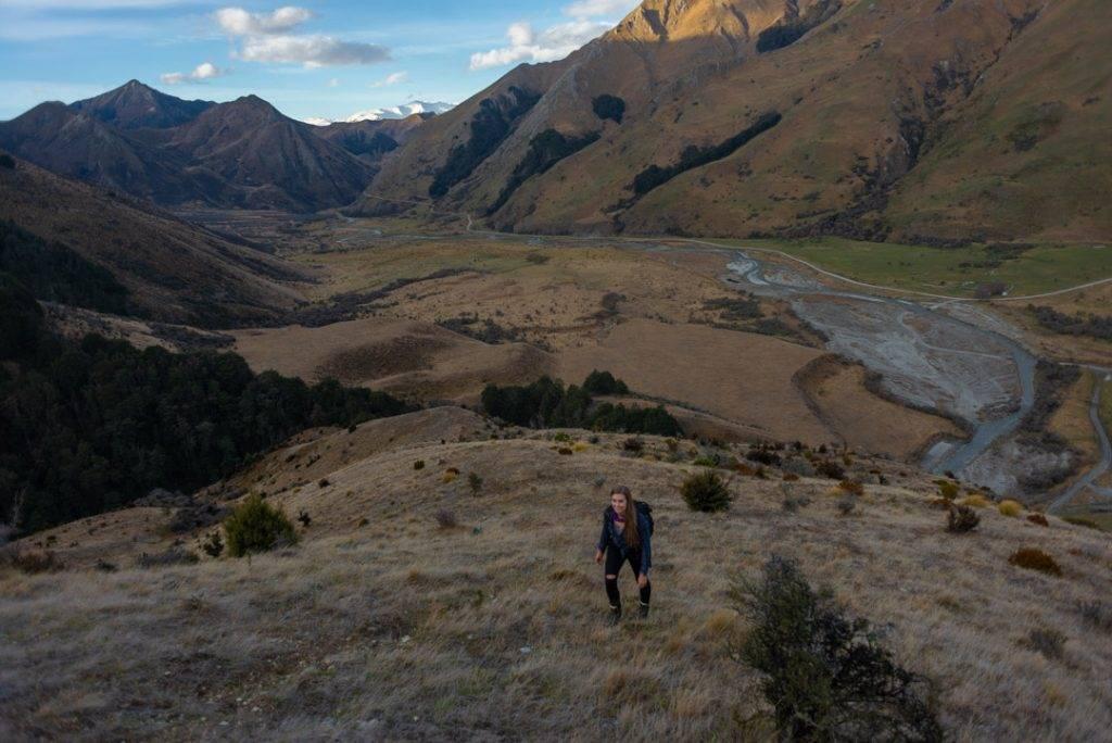 Hiking at Moke Lake in New Zealand