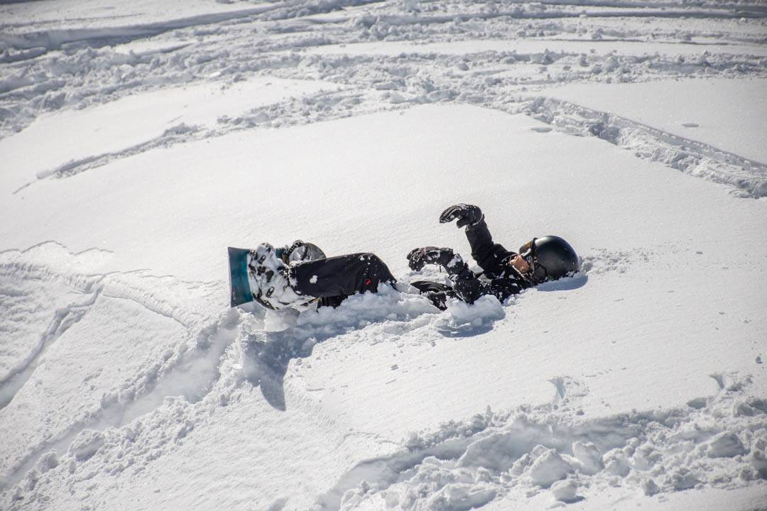 Fresh powder during the queenstown ski season