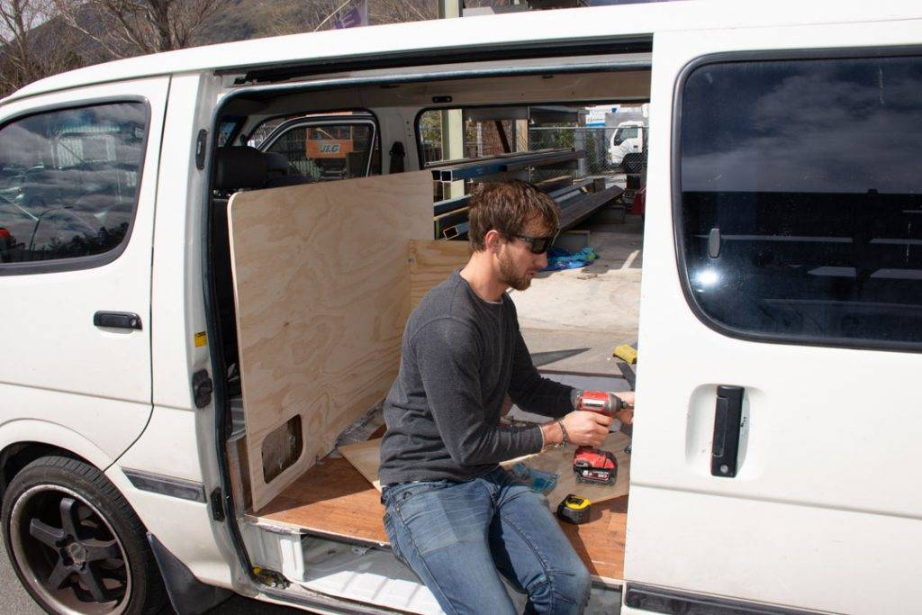 working on building a campervan