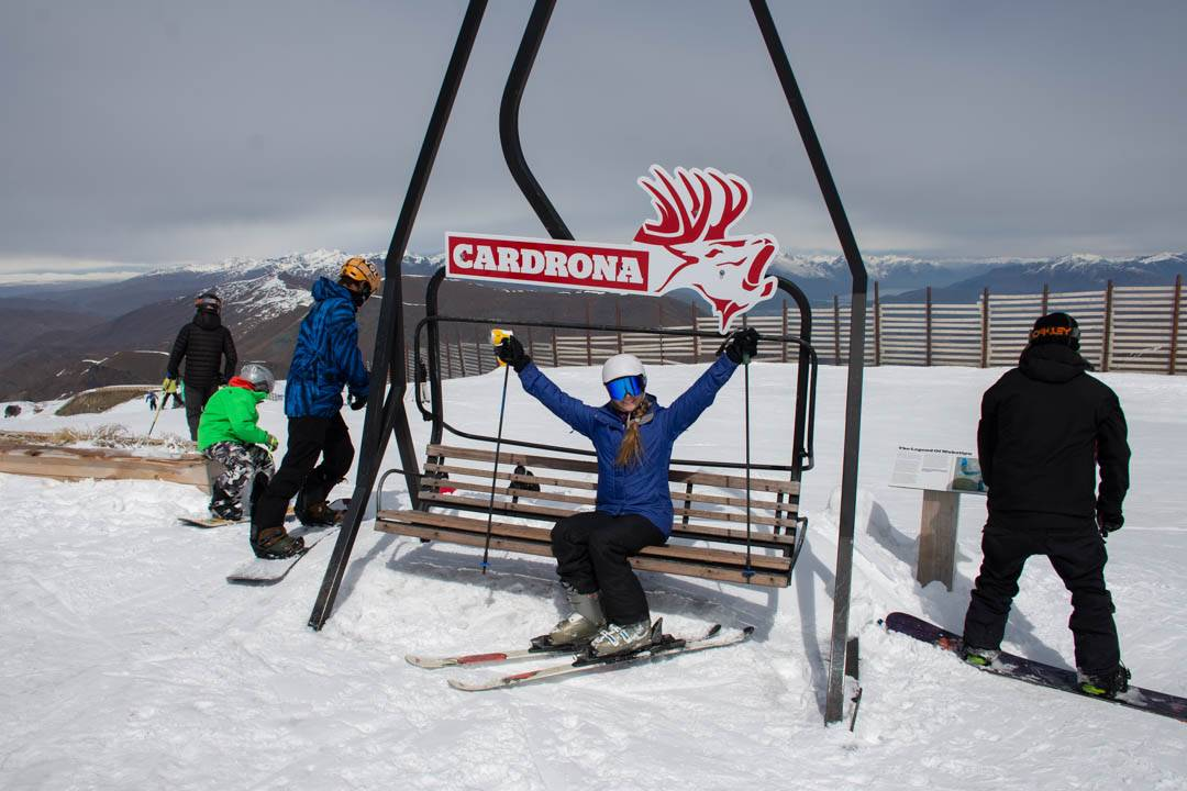 Cardrona ski field during the Queenstown ski season in the middle of winter in Queenstown