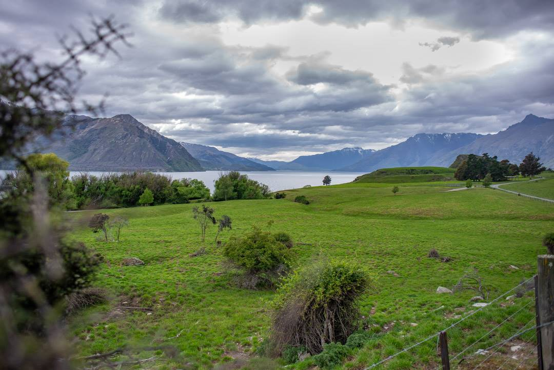 Scenic views on the station to station bike ride Queenstown