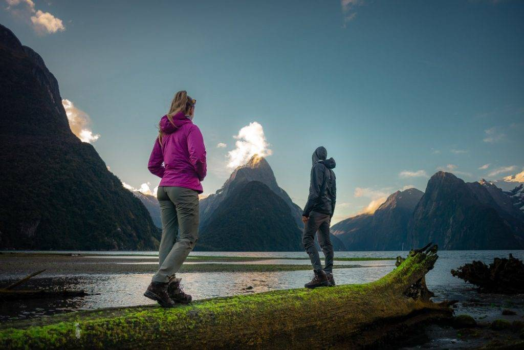 Bailey and I at Milford Sound at sunset