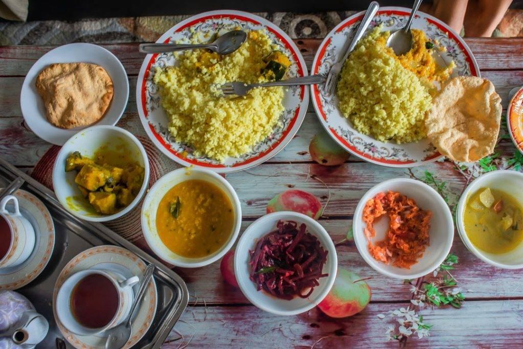 Eating home cooked Sri Lankan Food!